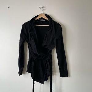 Anne Fontaine black sweater jacket blazer 40